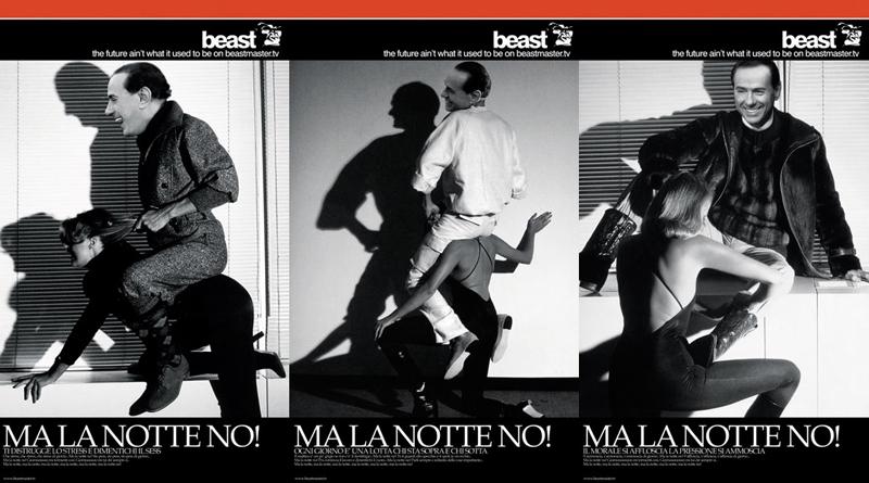 Beast fotomontaggio Berlusconi Milano Galleria Vittorio Emanuele II