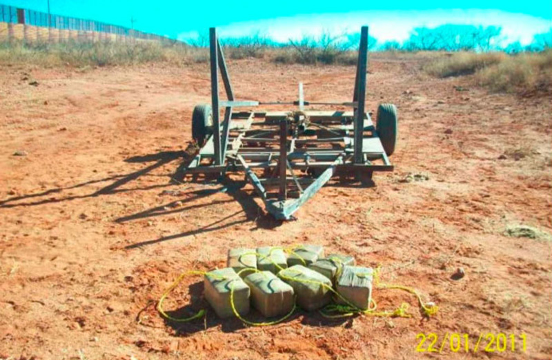 Pot Catapult - Mexico Arizona Border