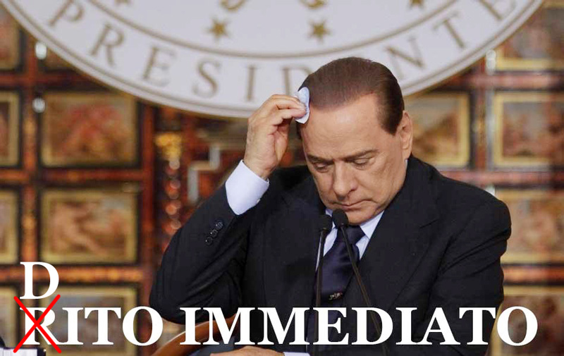 BERLUSCONI RITO DITO IMMEDIATO