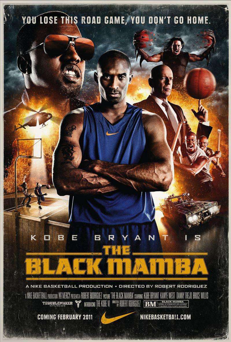 KOBE BRYAN + ROBERT RODRIGUEZ + NIKE = BLACK MAMBA
