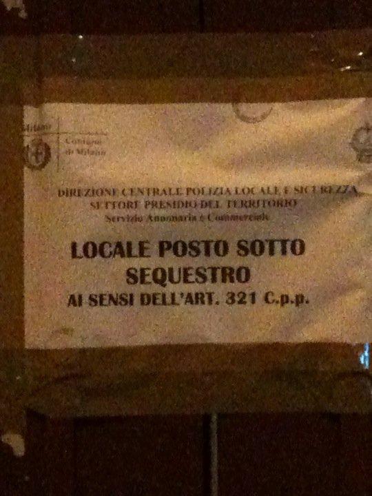 LOCALE POSTO SOTTO SEQUESTRO