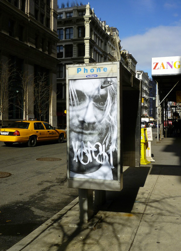 KATSU FAKE ADV KURT COBAIN NEW YORK